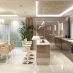Дизайн гостиной с кухней в частном доме