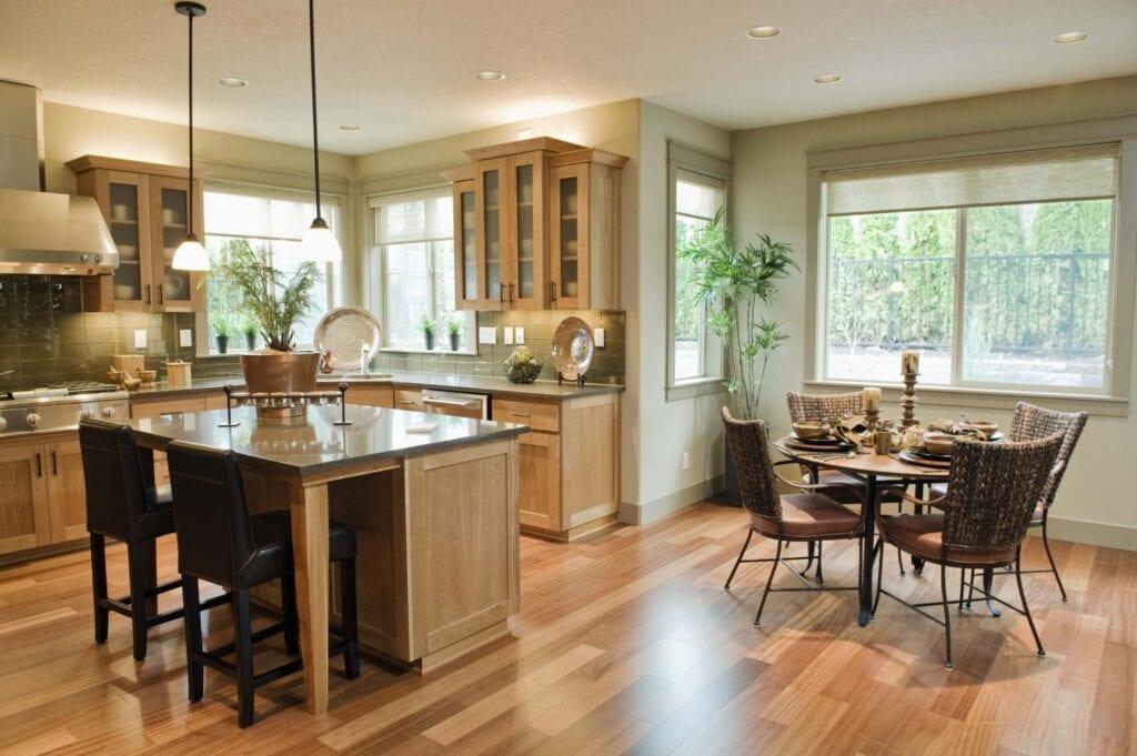 Необычные кухня и столовая дизайн