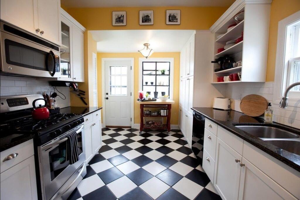 Желтые стены на кухне: фото кухонного интерьера с желтыми....