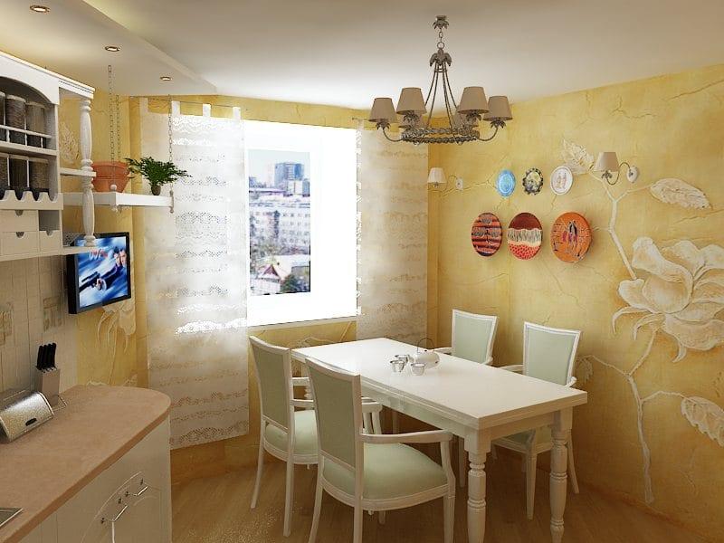 Декоративные стены на кухне