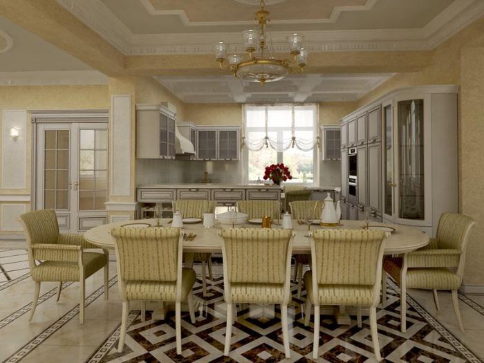 Дизайн столовой в частном доме