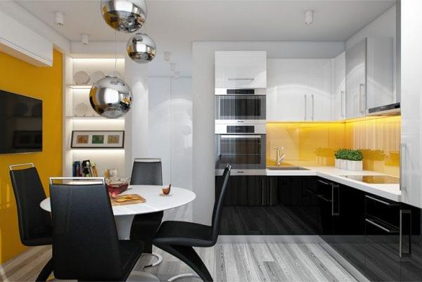 Яркий интерьер для помещения площадью 9 кв. метров