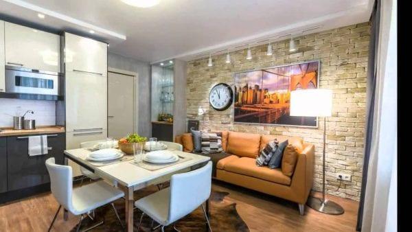 Кухня и гостиная: 5 шагов по обустройству единого пространства площадью 19 кв. м