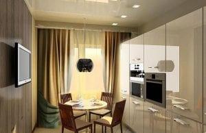 Шторы для технологичной кухни: хай-тек в деталях