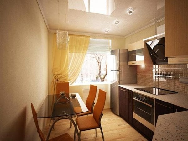 Особенности обустройства интерьера кухни площадью 9 кв. метров