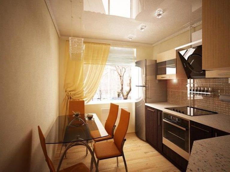 Маленькая кухня 8 кв.м с балконом дизайн