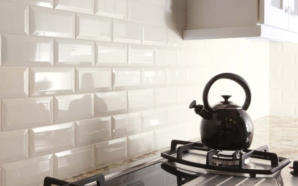Ceramic tiles from the brick for the kitchen