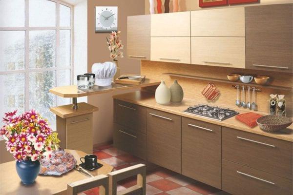 Кухня из ДСП – экономичный и практичный вариант гарнитура