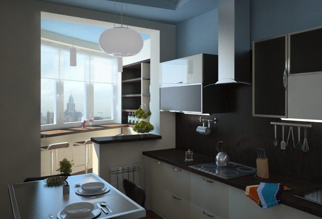 Ремонт в кухне 10 квм с балконом