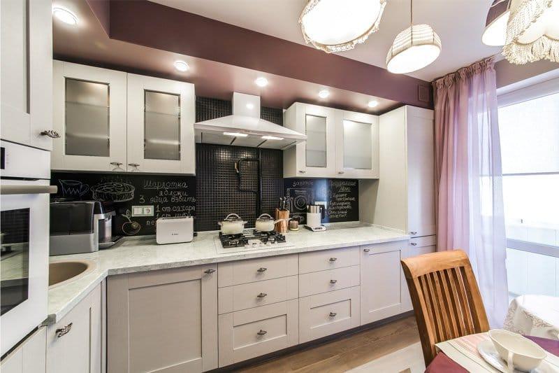 Кухня классика угловая 9 кв м дизайн фото