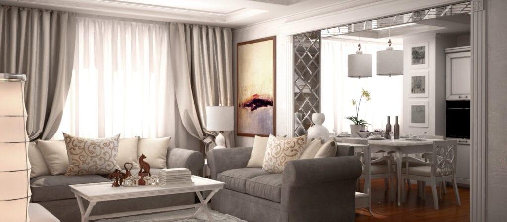Дизайн интерьера в неоклассическом стиле фото