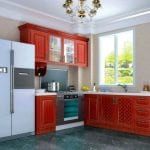 kitchen-interior-design-with-red-cabinets-neo-classical