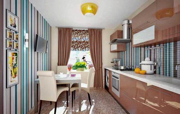 комбинированные обои фото для кухни