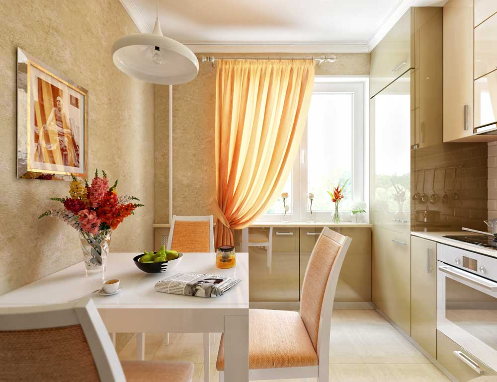 Интерьер кухни фото обои 9 кв метров фото