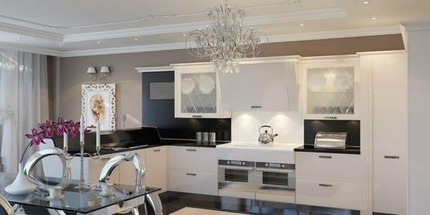 неоклассика в интерьере кухни фото