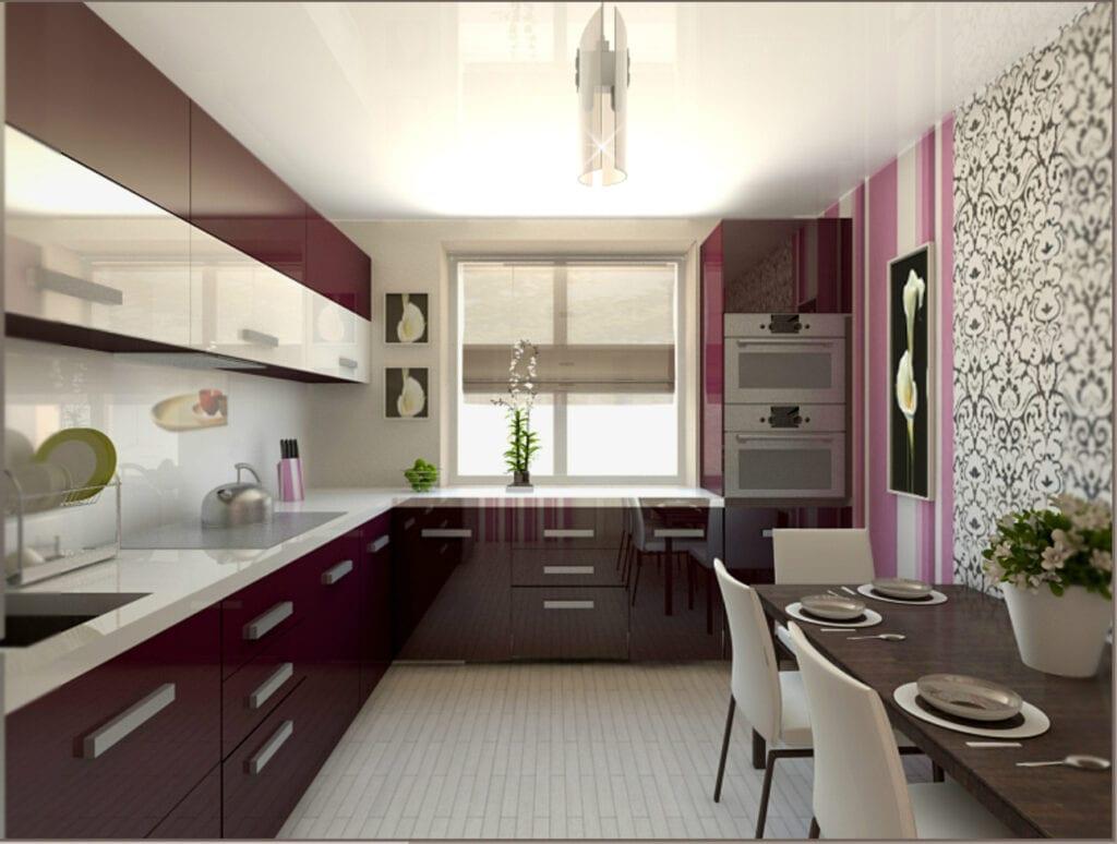 Интерьер кухни 9 квадратов