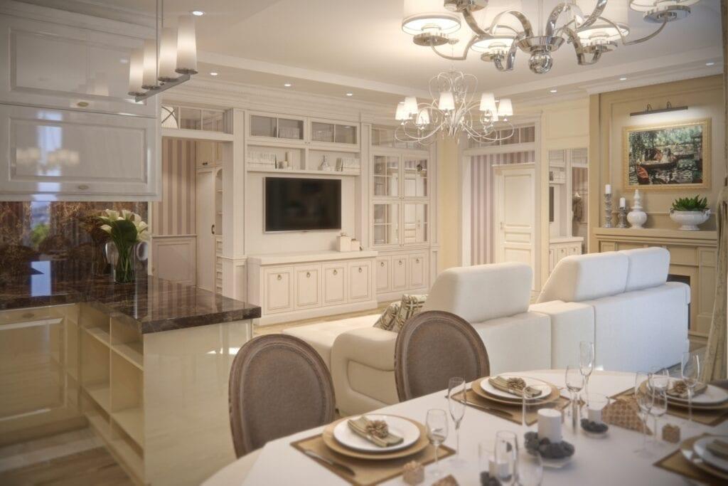 Дизайн интерьер кухни современная классика дизайн