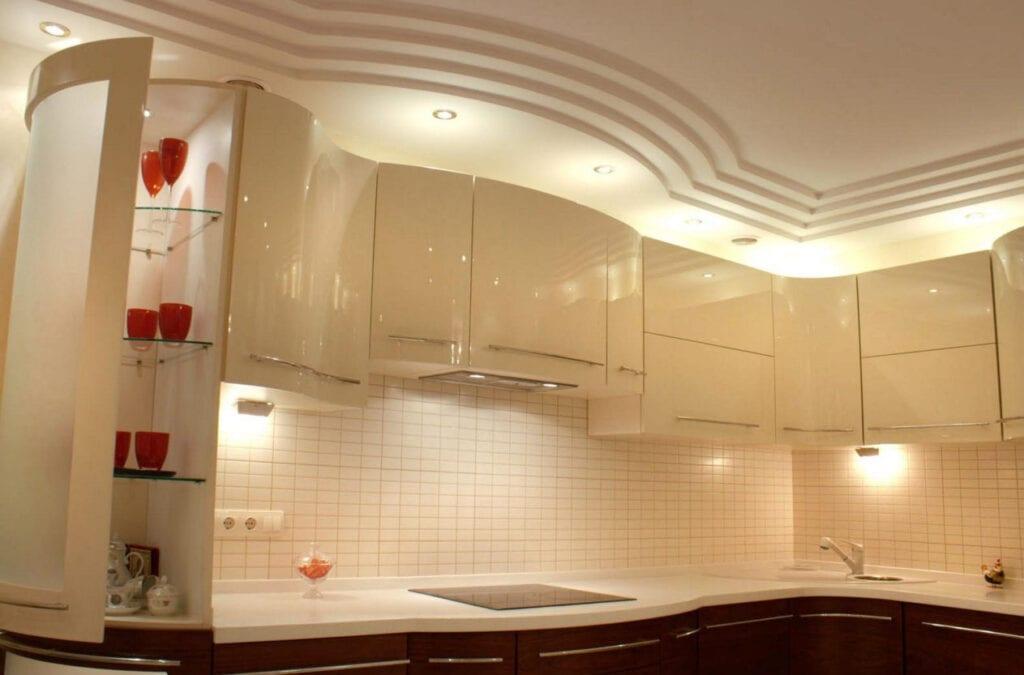 Потолки из гипсокартона на кухни своими руками