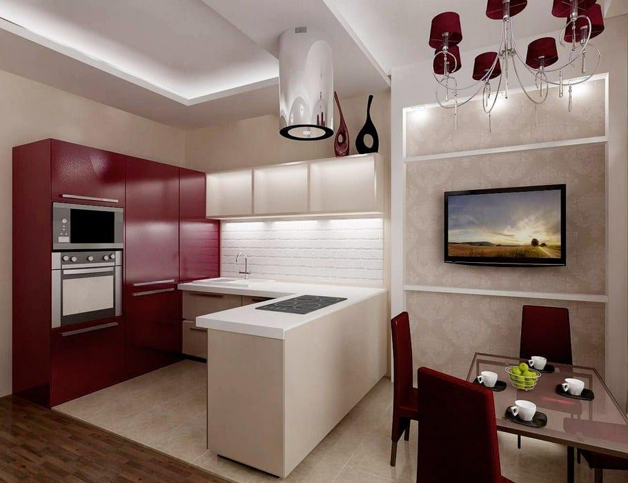 Фото дизайн кухни 25 кв м