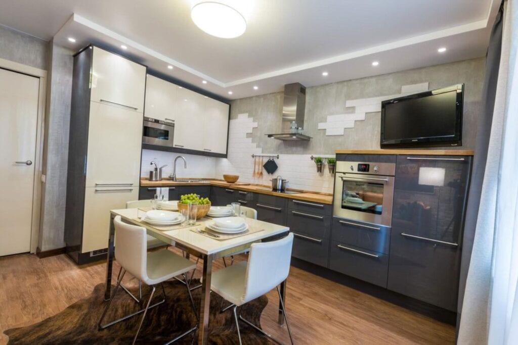 Дизайн кухни в квартире 15 квм