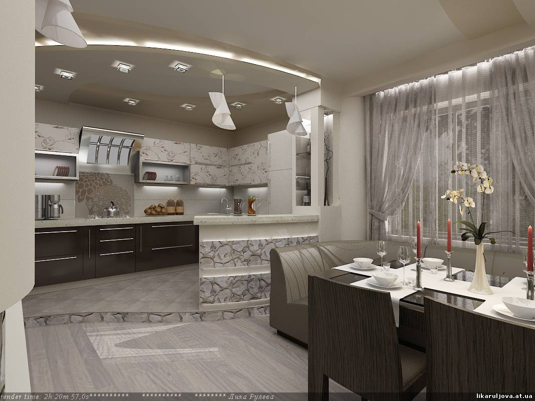Дизайн кухни-столовой-гостиной в частном доме фото 20 кв.м