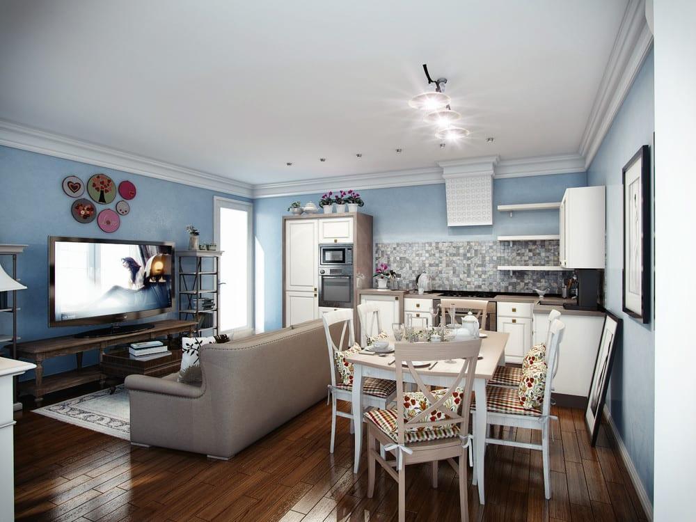 Дизайн кухни столовой 20 кв м