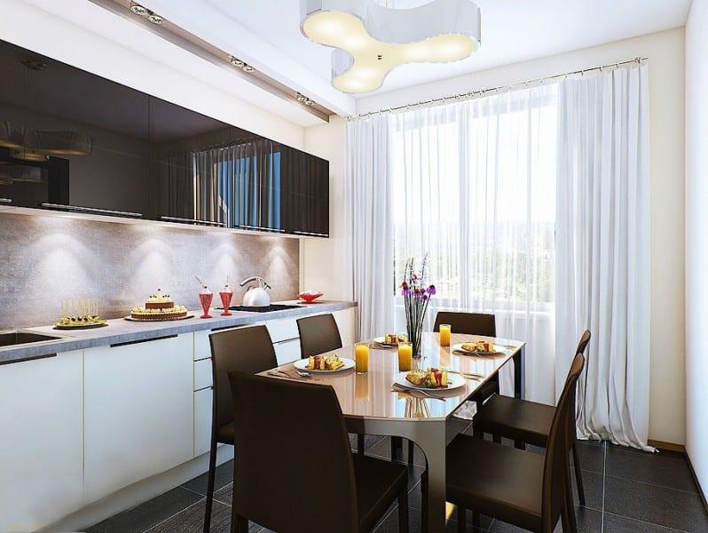 Кухня дизайн интерьер 10 кв метров прямоугольная