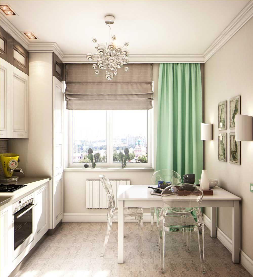 Кухни дизайн 10 кв метров в современном стиле полукругом