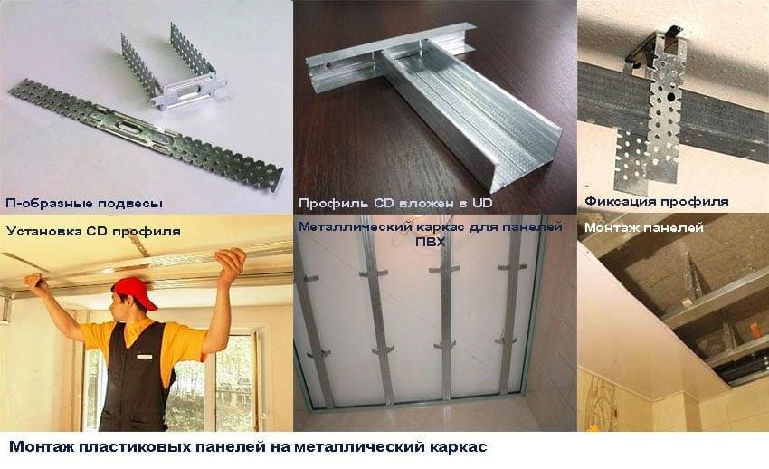 Потолок из пластиковых панелей: как 52