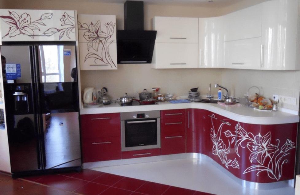 кухни с фото рисунком