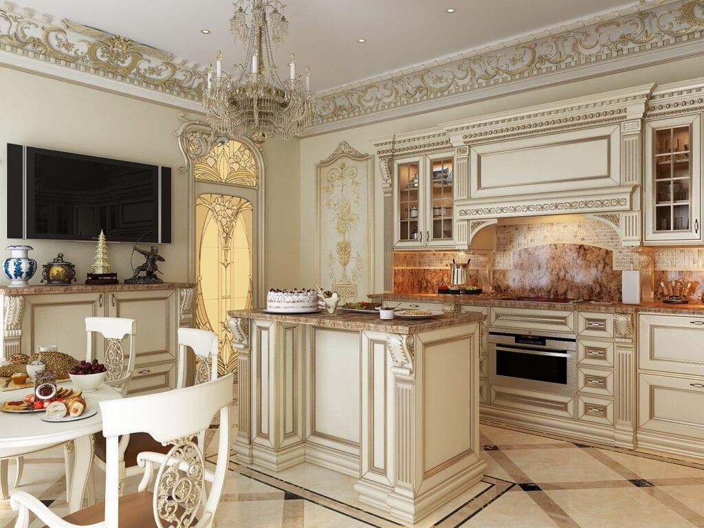 классический стиль для кухни фото