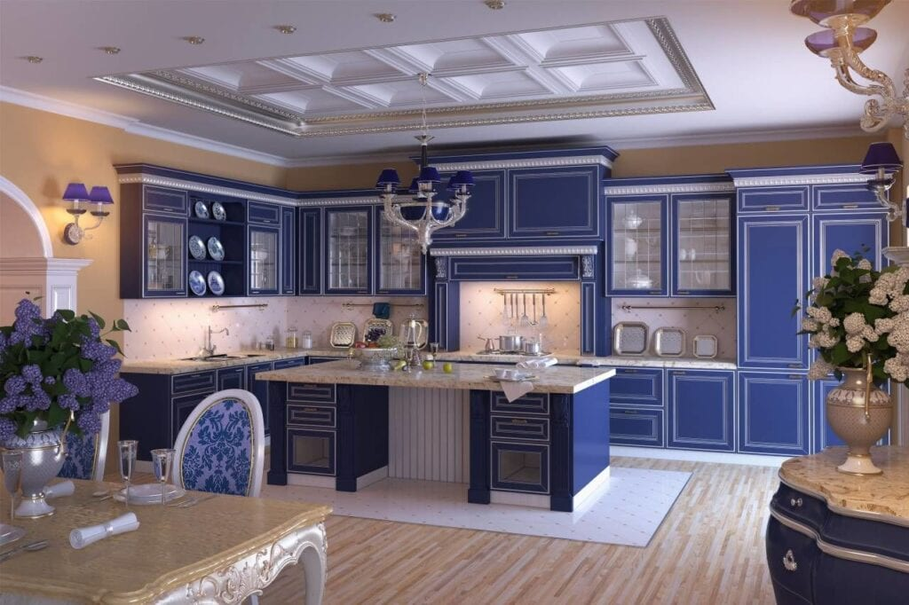 Интерьер к кухне с серебром