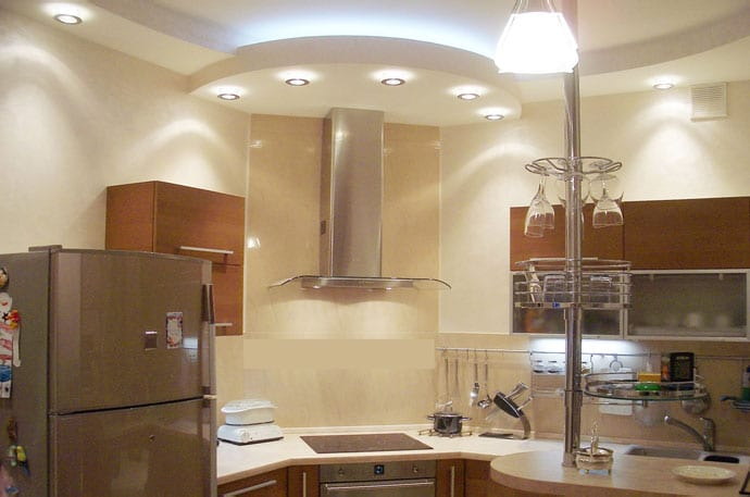 гипсокартон кухня фото потолки