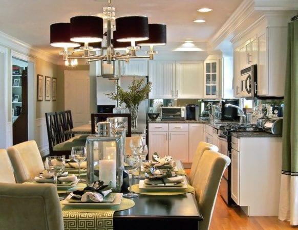 Освещение кухни-столовой