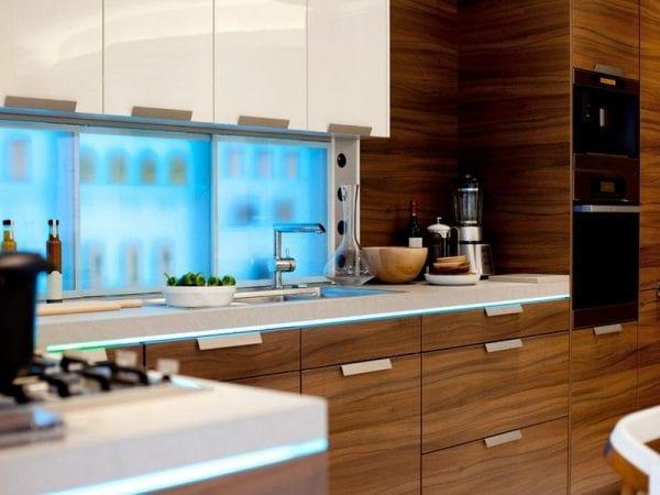 Кухонные фасады из шпонированного МДФ