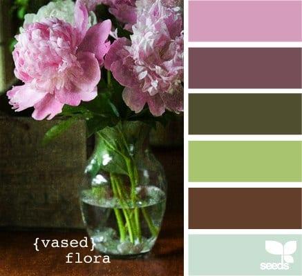 Коричневый цвет с добавлением фиолетового, розового, голубого