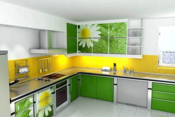 Желтый с зеленым