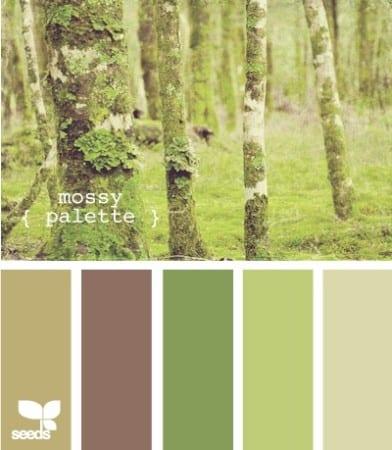 Зеленый и коричневый