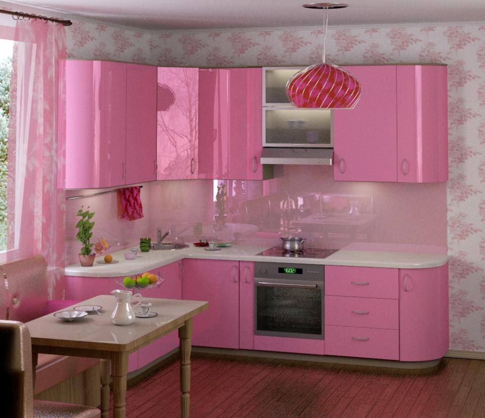 детей после кухонный гарнитур розовый фото учитель