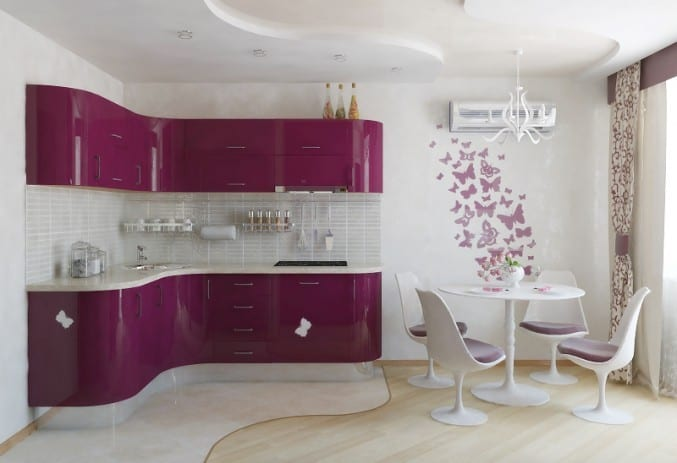 Правила сочетания цветов в интерьере кухни