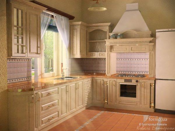 Прекрасное сочетание плитки и декоративной штукатурки