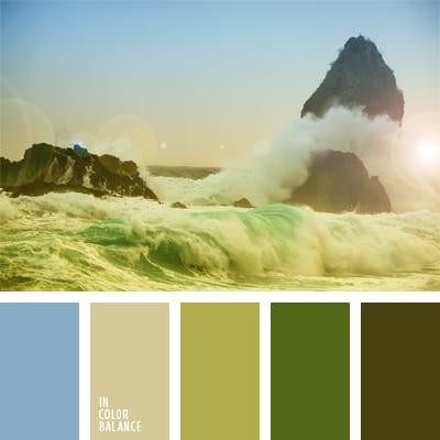 Голубой, желтый и зеленый