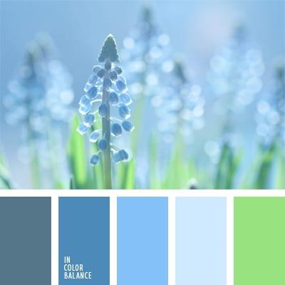 Голубой и зеленый
