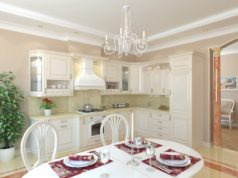 Дизайн интерьера светлой кухни