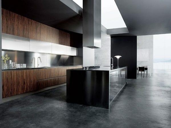 Кухня венге в стиле минимализм