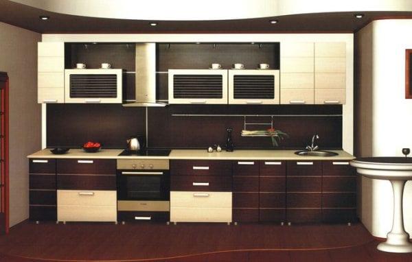 Кухня с фасадами венге