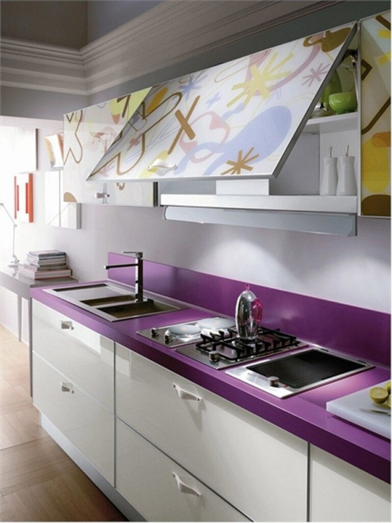 violet-countertop-and-unique-kitchen-cabinet-paint-915x1220