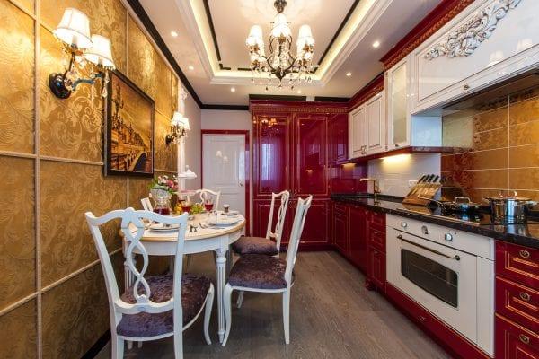 Красно-черная кухня классика