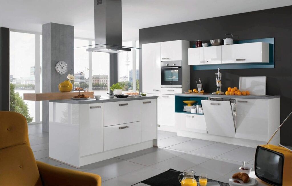 Глянец фасады для кухни цвета
