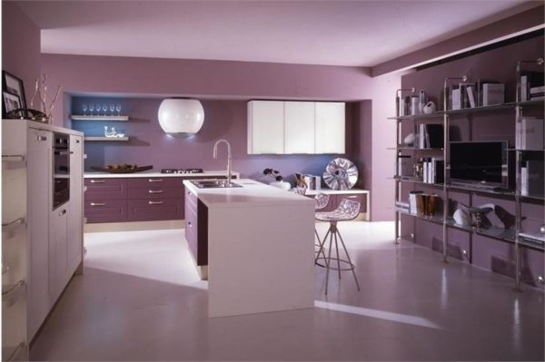 Одноцветная кухня